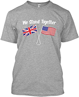 We Stand Together - USA & UK Union Jack Flags Men's T-Shirt