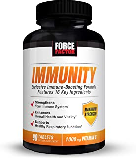 Force Factor Immunity, Immune Support Booster with Elderberry and 1000mg of Vitamin C, Plus Vitamin D, Zinc, Probiotics, Q...