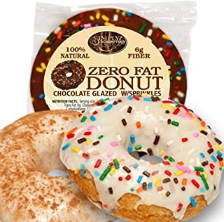 Simply Scrumptous Fat Free Chocolate Glazed Donuts with Sprinkles