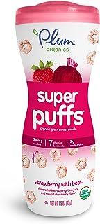 Plum Organics Super Puffs, Organic Baby Puffs, Strawberry & Beet, 1.5 oz