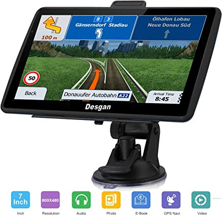 GPS Navigation for Car, 7 Inch 8GB HD LCD Touch Screen Car GPS Navigation,Voice Navigation, Driving Alert, Lifetime Map Updates (Black) (Black)