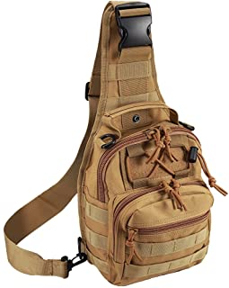 Tactical Shoulder Bag,1000D Outdoor Military Sling Daypack Backpack