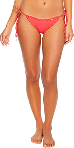 Cosita Buena Wavey Brazilian Tie Side Ruched Back Bikini Bottom