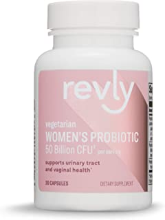 Amazon Brand - Revly One Daily Women's Probiotic, 50 Billion CFU (7 strains), Lactobaccilus and Bifidobacteria blend, 30 Capsules