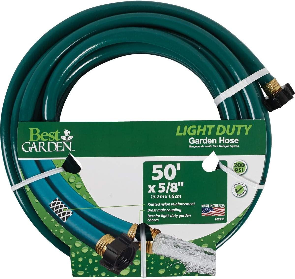 Best Garden 5/8 in. Dia. x 50 Ft. L. Light-Duty Garden Hose - 1 Each