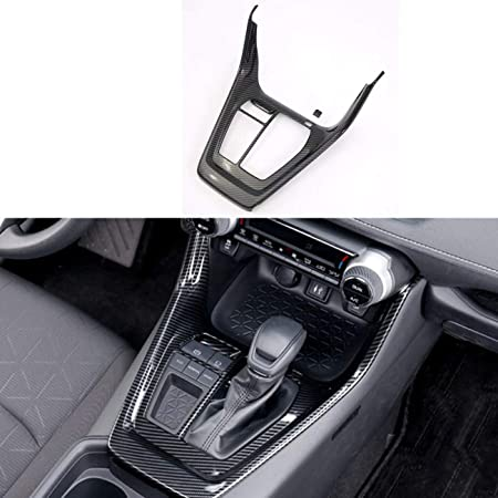 for Toyota RAV4 2019-2020 ABS Carbon Door Lower Armrest Stripe Cover Trim 4pcs