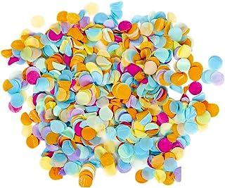 Andaz Press Tissue Paper Confetti 1-Inch Round Circles, Rainbow in Bulk 5.3oz Pack, Rainbow Unicorn, Hawaiian Luau, Circus...