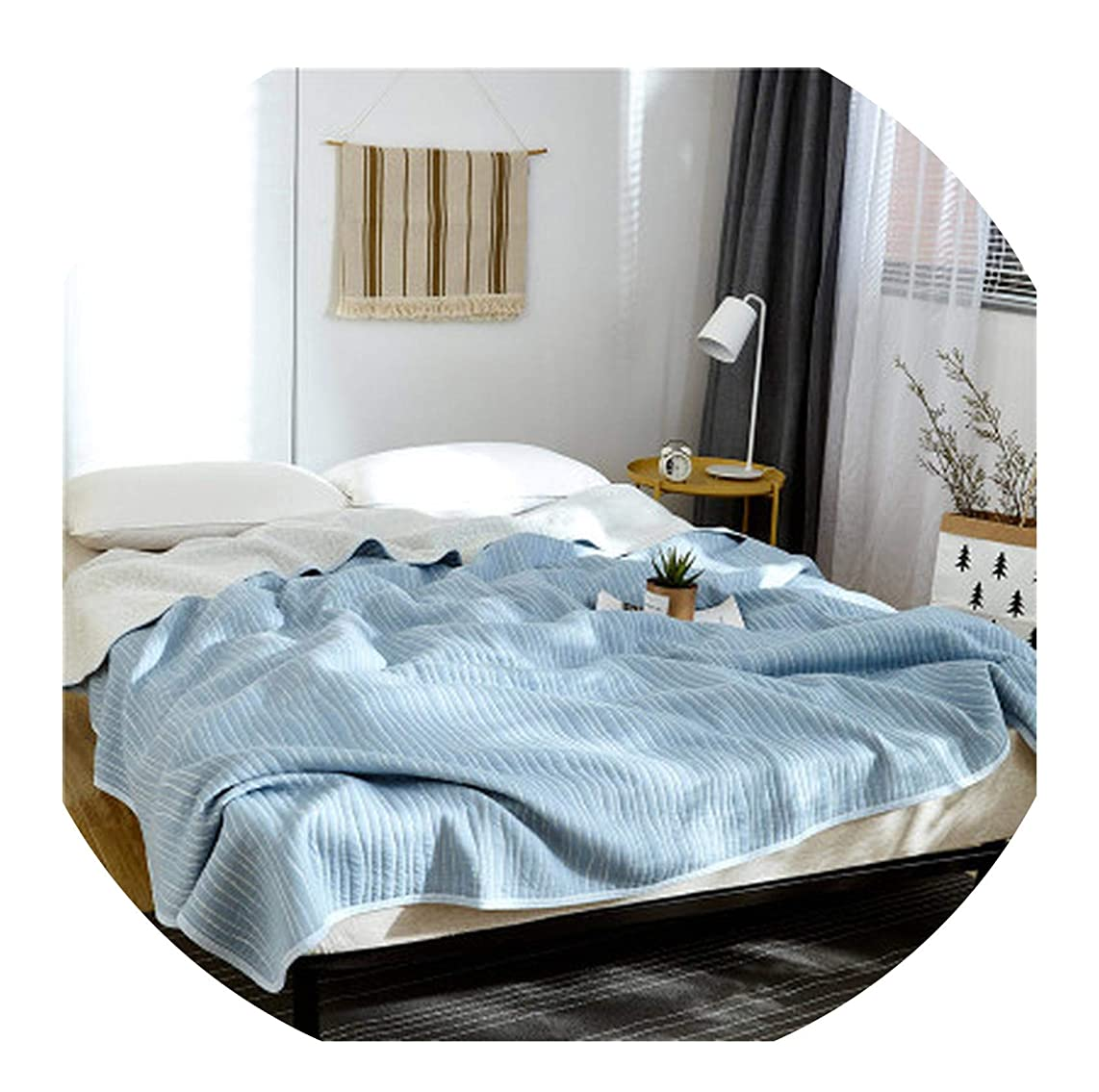 FAT BIG CAT Summer Cotton Air Conditioning Quilt Comforter Blanket Full Queen King Dotiki Throws Bedspread Plaids Patchwork Bed Covers,150X200cm,As Photos