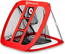RELILAC Pop Up Golf Chipping Net - Indoor/Outdoor Golfing Target Accessories for Backyard Accuracy and Swing Practice - Great Gifts for Men, Dad, Mom, Husband, Women, Kid, Golfers