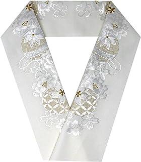 シルエリー(Silelly)刺繍半衿 半襟 刺繍衿 シルエリー 白 金 梅 牡丹 桜 毬 七宝