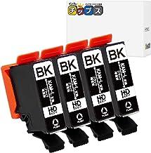 エプソン用 互換インク KAM(カメ)互換 ブラック 4本 増量版 (KAM-BK-L 互換)対応機種:EP-881 / EP-882