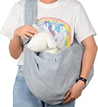 PETLOFT Reversible Pet Sling Carrier, Small Dog Carrier, Dog Sling, Hands-Free Cross-Body Carrier with Collar Hook for Dog/Cat/Bunny up to 11lb