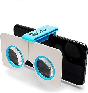 私はCARBBOARD®Pocket 360 - iPhoneおよびAndroidスマートフォン用のコンパクトバーチャルリアリティビューア - Googleによって認定されたWWGC(ブルー)