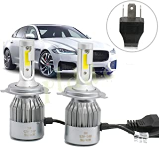 PLDDE 2pcs H4/9003/HB2 6000K Cool White 7200LM All-in-One LED COB Bulbs Conversion Kit For Headlights High Low Beam Driving Fog Light DC 12V/24V IP67 Waterproof Pack of 2 Driver+Passenger Replacement