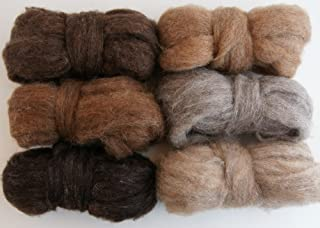 Forest Critters Carded Corriedale Roving, 6 Colors 6 Ounces