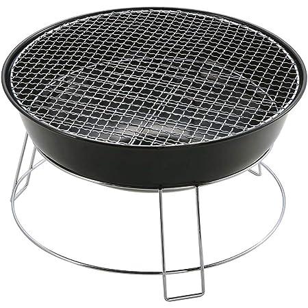キャプテンスタッグ バーベキュー BBQ用 コンロ グリル 焚火台 ユニオン丸型 [1~2人用]M-6497