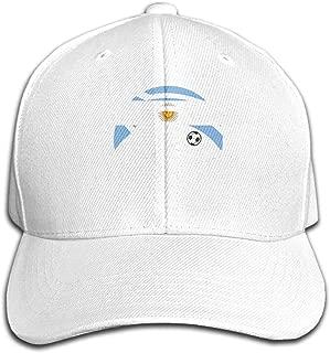 Men/Women Soccer Player Kicking Ball Argentina Flag Outdoor Duck Tongue Hats Adjustable Washed Trucker Snapback Hat