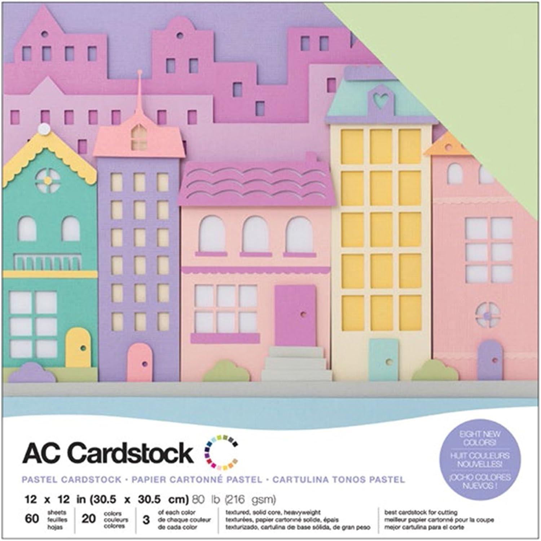American Crafts 376992 tonkartons Variety Pack Pastells 60 Blatt Blatt Blatt 30,5 x 30,5 cm grußkartenkarton B01NAN1594   | Großer Räumungsverkauf  25c739