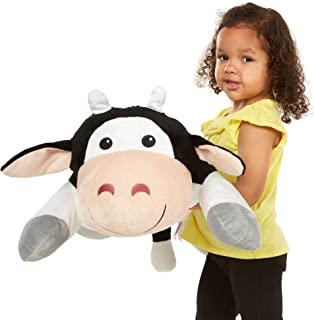 Melissa & Doug Cuddle Cow Jumbo Plush Stuffed Animal (Reusable Activity Card, Nametag, Over 2 Feet Long, Great Gift for Girls and Boys - Best for All Ages)