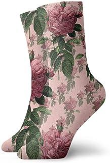 Not Applicable Calcetines Redoute 'Rose Cute Soft Soft Cómodo Novedad Party Calcetines Atléticos 30Cm Calcetines De Compresión Unisex Calcetines De Tubo Sport Impreso Casual Colorido Clásico Clás