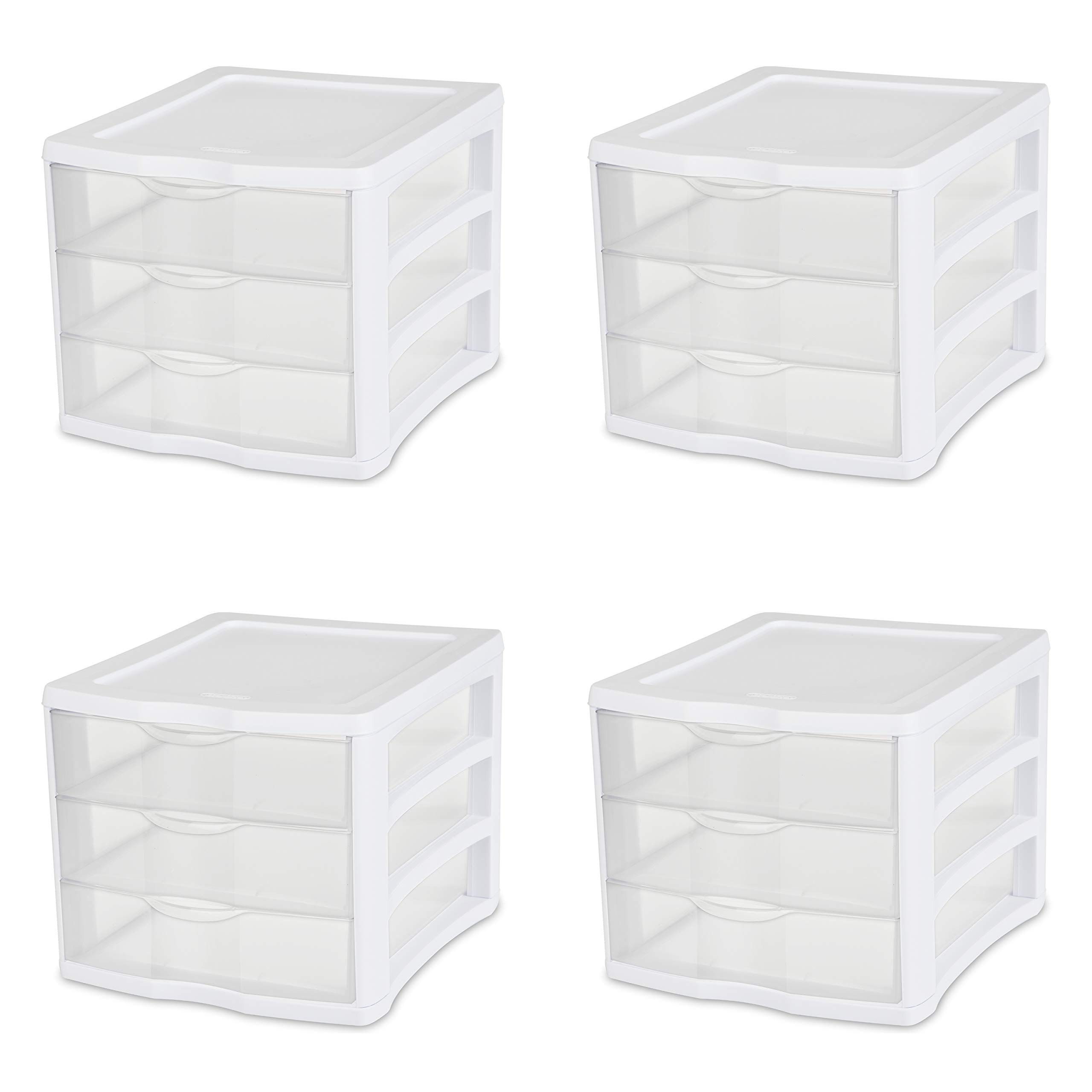 Sterilite 17918004 Drawer Drawers 4 Pack