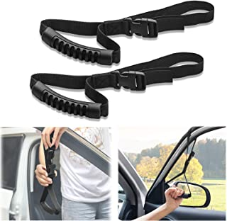 Sporthfish Automotive Adjustable Standing Aid Safety Handle Vehicle Support Grip Handle Disability Help Car Hand Hook- 2 pcs