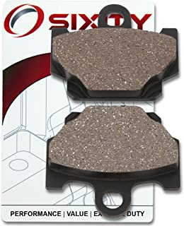 Sixity Front Organic Brake Pads 2000-2005 for Yamaha RX-Z 135 Set Full Kit 3XL3 5PV1 5PV2 Complete