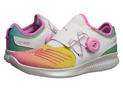 New Balance Kids FuelCore Reveal (Little Kid) (White/Rainbow) Girls Shoes