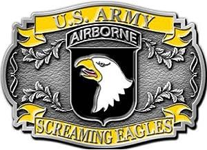 101st airborne belt buckle