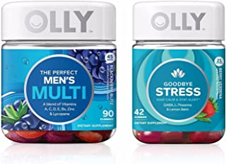 Olly New Men's Duo! Includes One Perfect Men's Multi And One Olly Goodbye Stress! Feel Great With This Set! Delicious!