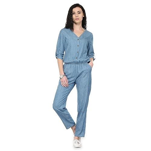 65a96b7920c Denim Jumpsuit  Buy Denim Jumpsuit Online at Best Prices in India ...