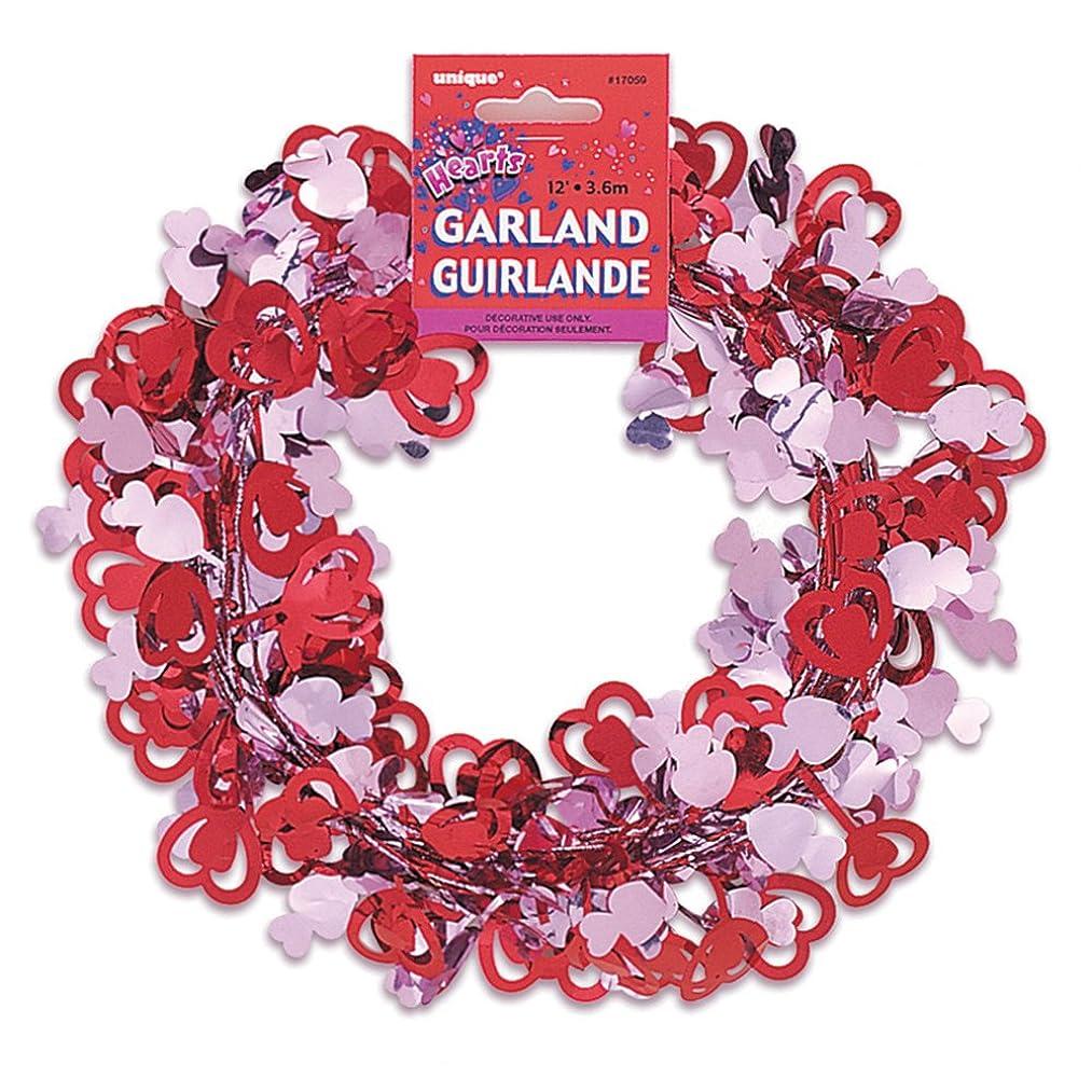 12ft Wire Valentine's Day Heart Garland