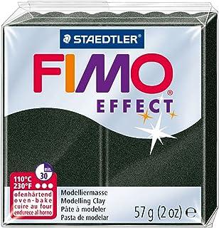 Staedtler Fimo Efecto polímero de Arcilla 2oz Negro Perla, acrílico, Juego de 6
