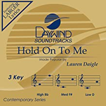 Hold On To Me Accompaniment/Performance Track