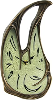 Veronese Design Cool Bronze Finish Melted Desk Clock Table Mantel Dali