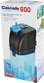 Penn-Plax Cascade 600 Submersible Aquarium Filter Cleans Up to 50 Gallon Fish Tank with..