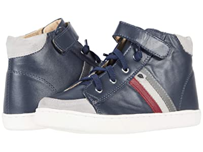 Old Soles Glambo High-Top (Toddler/Little Kid) (Navy/Burgundy/Gris/Grey) Boy