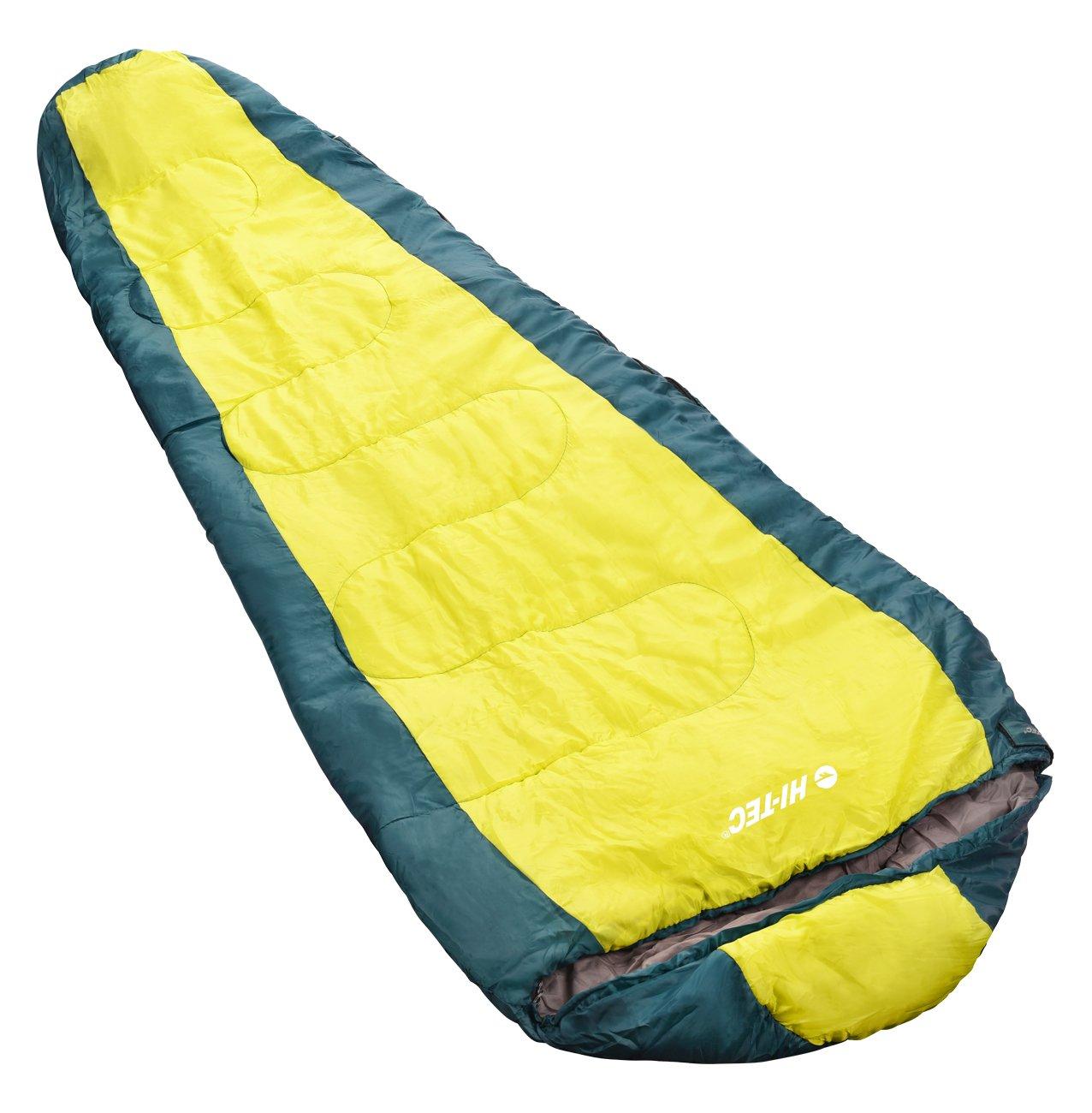Hi-Tec AKSU Sleeping Bags, Dark Green/Yellow Green, ONE Size
