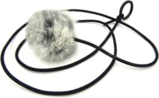 Kats'N Us Bouncy Ball Rabbit Fur String Cat Toy Gray
