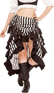 Steampunk Victorian Cosplay Costume Womens High-Low Show Girl Skirt C1367