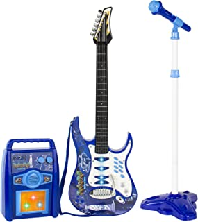 Best Choice Products Kids Electric Musical Guitar Toy Play Set w/ 6 Demo Songs, Whammy..