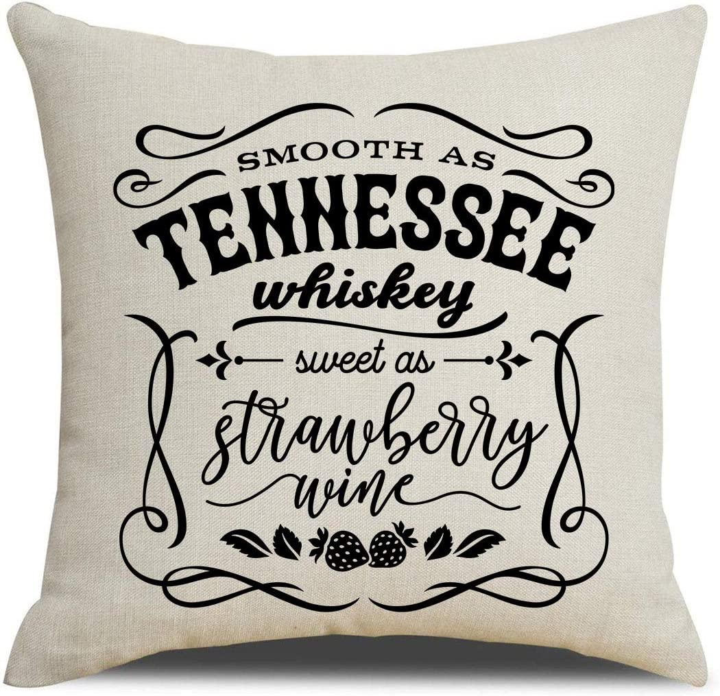 Cheap super special price PSDWETS Modern Baltimore Mall Farmhouse Decoration Whiskey Tennessee Smooth As