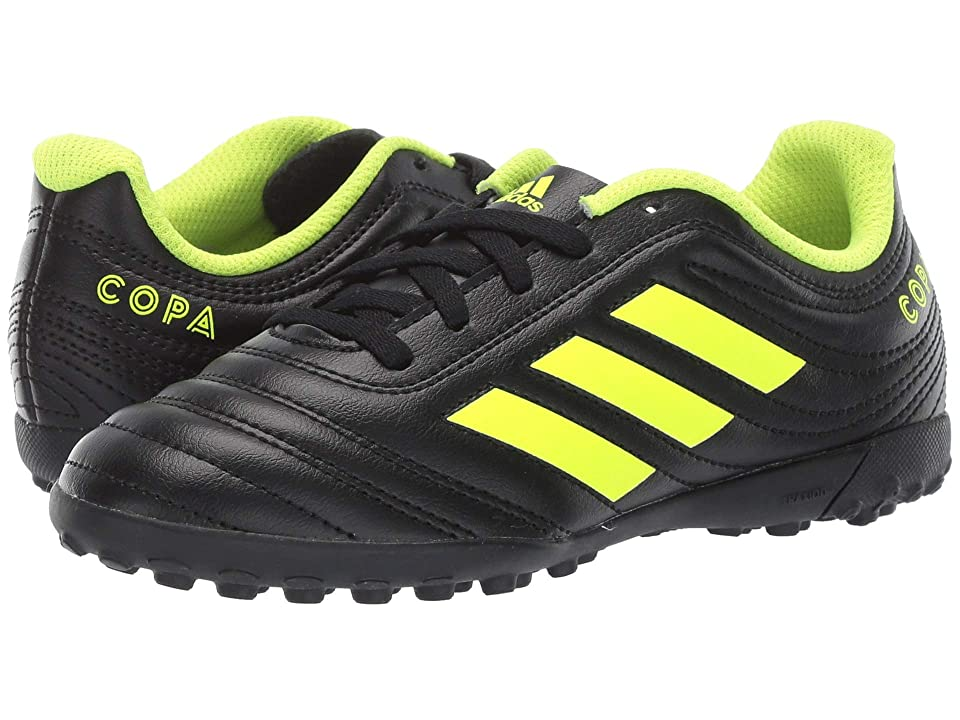 adidas Kids Copa 19.4 TF Soccer (Little Kid/Big Kid) (Black/Solar Yellow/Black) Kids Shoes