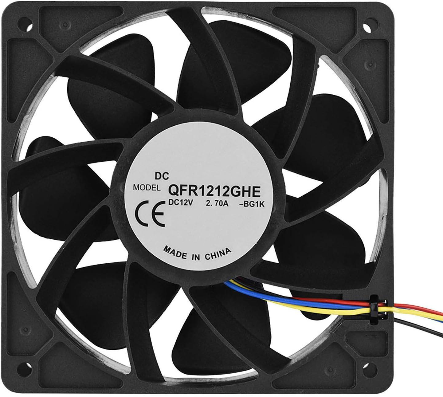 Surebuy Ventilador de enfriamiento de 6000 RPM, Ventilador de enfriamiento Universal Ultra silencioso con Conector de 4 Pines DC 12V 2.7A Reemplazo del Ventilador de enfriamiento para Antminer S7 S9
