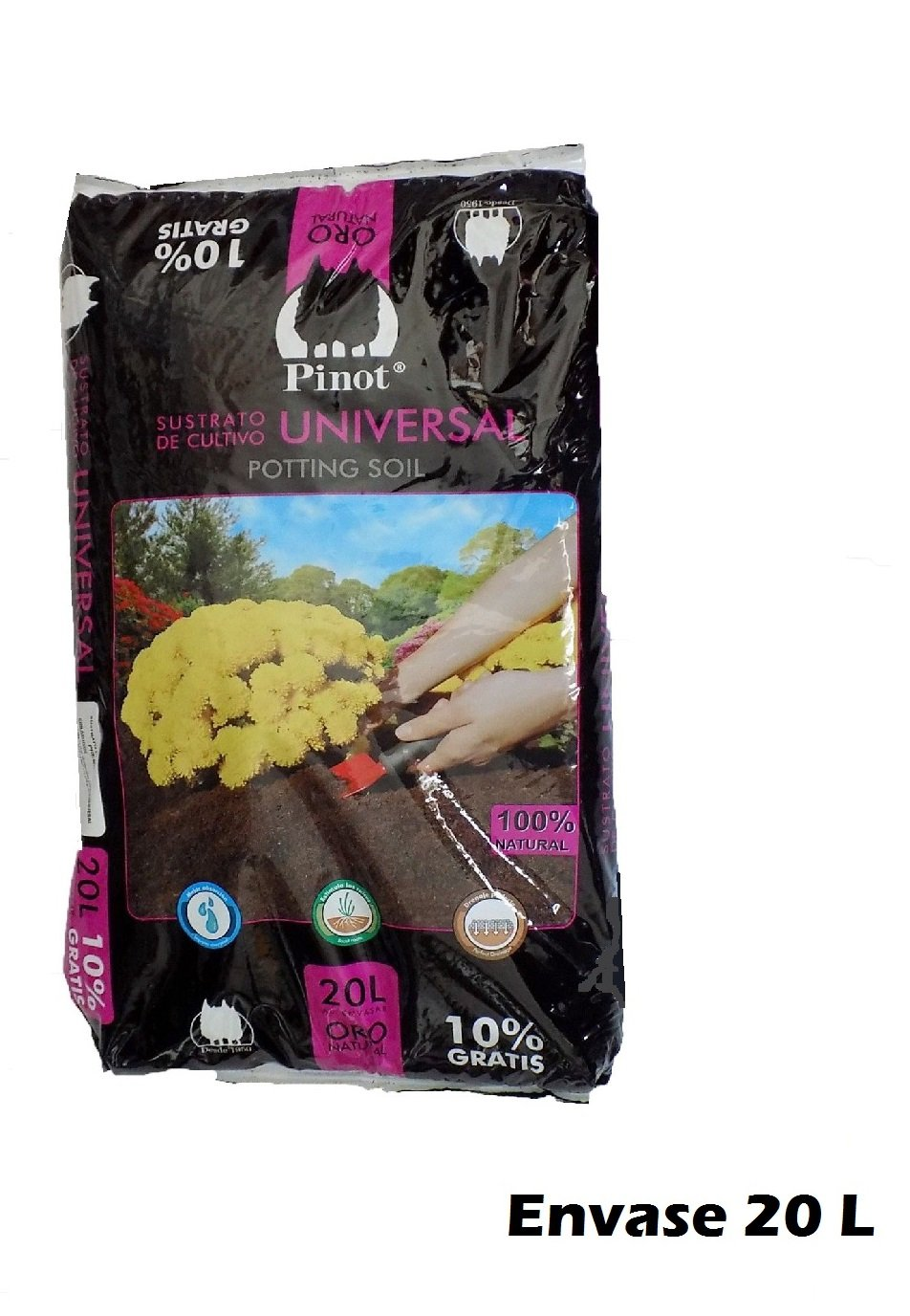 Turba sustrato de Cultivo Humus Corteza Pino 20 L substrato Pinot ...