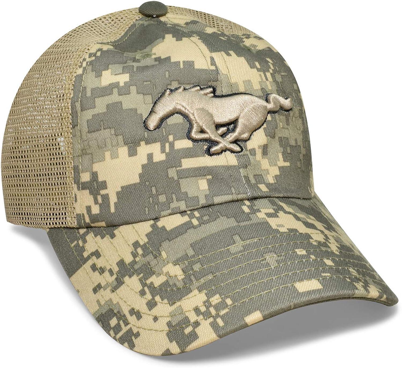 Checkered Flag Camo Mesh Baseball Cap for Ford Mustang