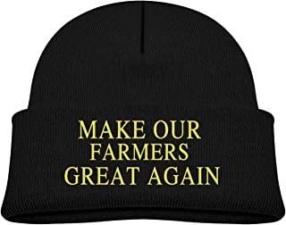 Make Our Farmers Great Again Baby Girls Boys Classic Soft Warm Knitted Hat Hood Skull Beanies Caps Black