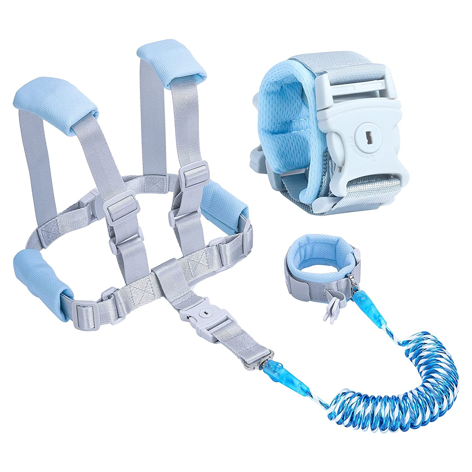 Toddler Leash - Anti Lost Wrist Link Safety for Toddlers (Blue)