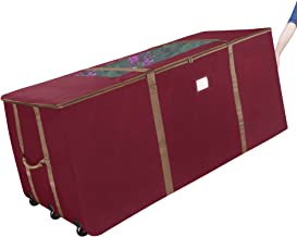 Elf Stor 83-DT5045 Rolling Christmas Storage Premium Duffel Bag with Wheels – Holds up to a 9 Foot Artificial Tree 1048 Re...