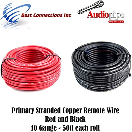 16 ga 100/' FEET X 2 ROLLS PRIMARY WIRE RED AND BLACK INSULATED COPPER STRANDED